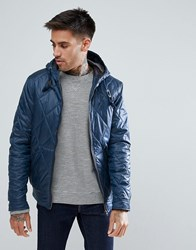 Ringspun Quilted Hooded Jacket Navy