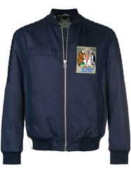 Mr And Mrs Italy Antarctic Survey Club Patch Bomber Jacket Blue
