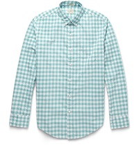 J.Crew Washed Gingham Cotton Shirt Blue