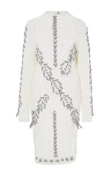 Prabal Gurung Cable Knit Turtleneck Sweater White