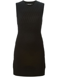 Neil Barrett Knit Mini Dress Black
