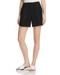 Dkny Contrast Stitching Pleat Front Shorts Black