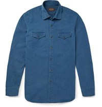 Tod's Denim Western Shirt Blue