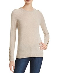 Bloomingdale's C By Button Crewneck Cashmere Sweater Wicker