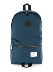 Topman Blue Indigo Nylon Branded Backpack
