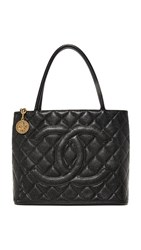 Wgaca What Goes Around Comes Around Chanel Medallion Tote Previously Owned Black