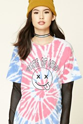 Forever 21 Tie Dye State Of Mind Tee White Black