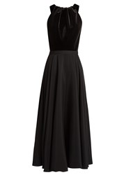 Emilio De La Morena Kilimanjaro Velvet And Silk Dress Black