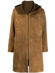 Salvatore Santoro Hooded Coat Brown