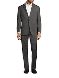 Polo Ralph Lauren Plainweave Striped Classic Fit Wool Suit Grey