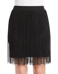 Chelsea And Theodore Black Fringe Skirt