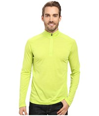 Smartwool Phd Ultra Light Zip Tee Green Men's Long Sleeve Pullover