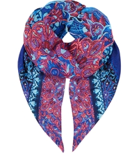 Gottex Exotic Peacock Scarf Multi Coloured