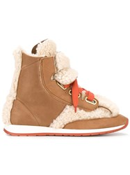 Vivienne Westwood Shearling Boots Brown