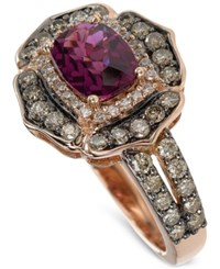 Le Vian Chocolatier Rhodolite Garnet 1 5 6 Ct. T.W. And Diamond 9 10 Ct. T.W. Ring In 14K Rose Gold