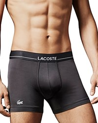 Lacoste Stretch Tencel Boxer Briefs Forged Iron
