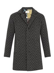 Etro Jacquard Knit Wool Coat Grey