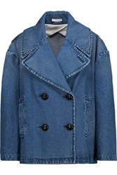 J.W.Anderson Oversized Double Breasted Denim Jacket Mid Denim
