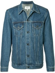 Makavelic Lazer Denim Trucker Jacket Blue