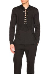 Balmain Lace Up Shirt In Black