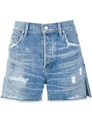 Citizens Of Humanity 'Skylight' Shorts Blue