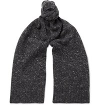 Anderson And Sheppard Donegal Wool Blend Scarf Gray