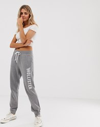 Hollister Skinny Fit Jogger With Logo Grey