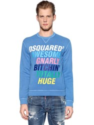 Dsquared Gnarly Printed Cotton Sweatshirt