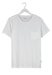 Knowledge Cotton Apparel Basic Tshirt Offwhite
