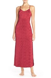 Urban Outfitters Women's Free People 'She Moves' Maxi Jersey Gown Berry