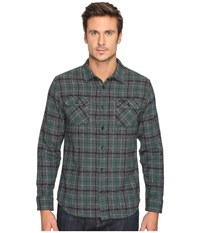 Rvca Lowland Long Sleeve Sequoia Green Men's Clothing Black