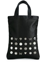 Comme Des Garcons Girl Jewel Embellished Tote Bag Black