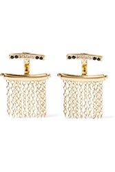 Elizabeth And James Vago Gold Tone Crystal Earrings