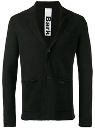Bark Patch Pockets Knitted Blazer Black