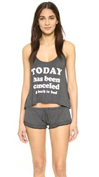 Wildfox Couture Today Is Cancelled Sleepover Pj Set Black