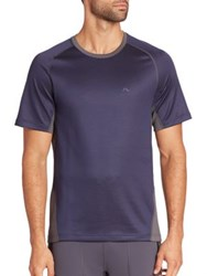 J. Lindeberg Regular Fit T Shirt Navy Purple