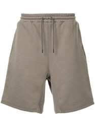 Undercover Human Control System Shorts Cotton Polyester Brown