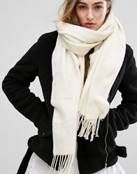 Pieces Long Scarf White