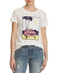 Michelle By Comune Car Graphic Tee 100 Exclusive Vintage White