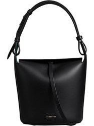 Burberry The Small Leather Bucket Bag Black