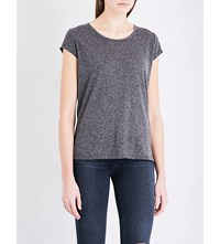 French Connection Hetty Jersey T Shirt Charcoal Mel