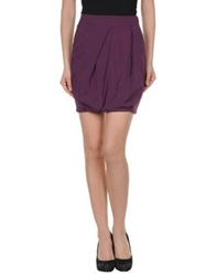 Gunex Mini Skirts Purple