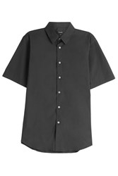 Jil Sander Short Sleeve Cotton Shirt Black