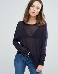 Only Mill Knit Long Sleeved Tee Deep Well Black