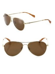 Toms Kilgore 57Mm Polarized Aviator Sunglasses Gold