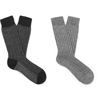 Pantherella Two Pack Cashmere Blend Socks Gray