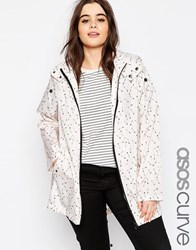 Asos Curve Pac A Trench In Arrow Print Print