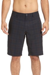 Travis Mathew Saenz Plaid Hybrid Short Gray