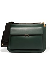 Marni Wallet Medium Two Tone Leather Shoulder Bag Forest Green