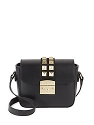 Valentino Lalie Studded Leather Satchel Black